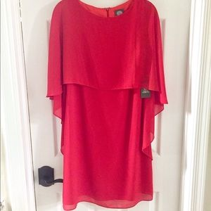 6dafb579742d8 Vince Camuto Dresses - NWT Vince Camuto Cape Overlay Dress Sz 2 😍💋💄